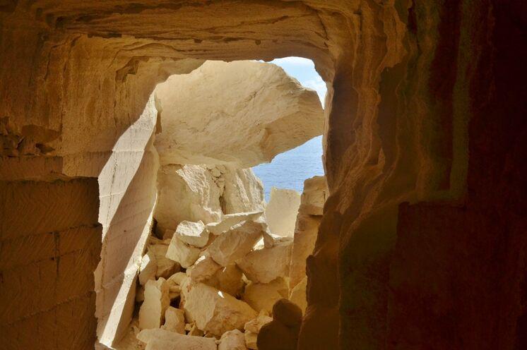 Hier besuchen Sie auch einen alten Steinbruch...