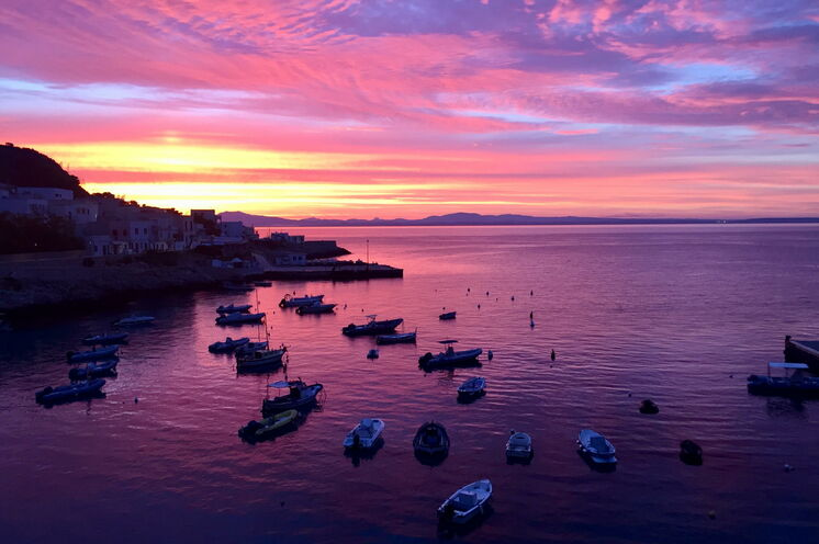 Unbezahlbarer Blick vom Zimmer Ihrer Unterkunft auf Levanzo auf den Sonnenaufgang!