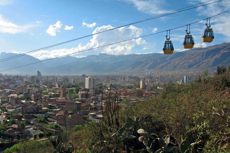 Die Reise beginnt in Cochabamba, wo Sie Ihr Fahrrad in Betrieb nehmen