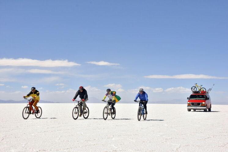 Auf dem größten Salzsee der Erde per Rad (13. Tag)