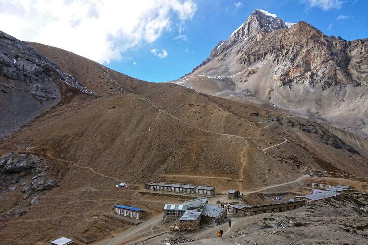 Thorung La High Camp - letzte Übernachtungsstätte vor der Passüberquerung