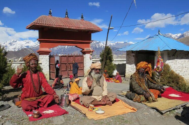 Im Kloster von Muktinath