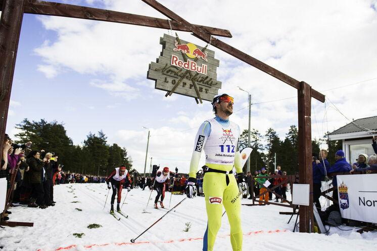 Der Zielbogen in Jokkmokk - noch nicht so berühmt wie jener in Mora für den Vasaloppet, aber das kann ja noch werden
