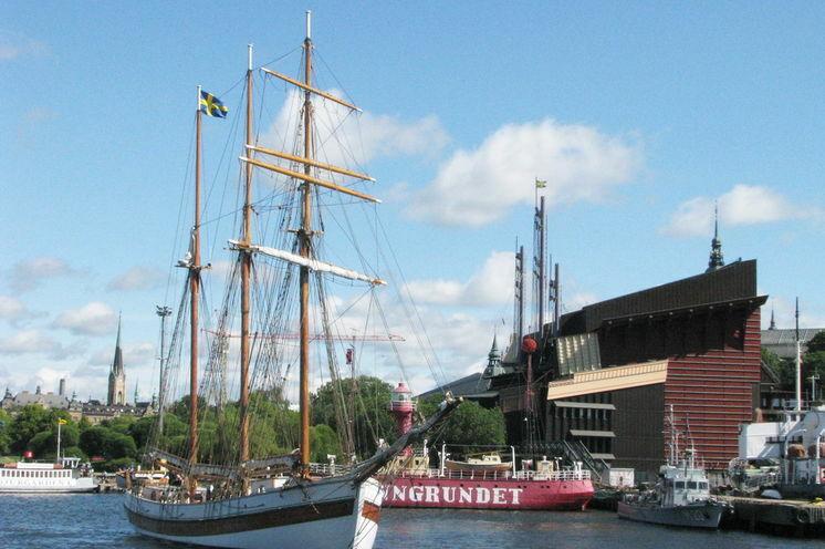 Stockholm hat viel zu bieten - Blick auf das Vasamuseum