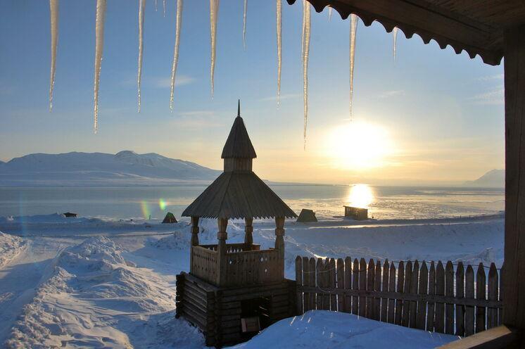Die Kirche von Barentsburg