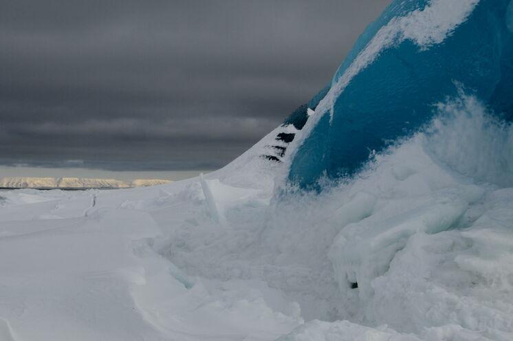 Eisberg an der Ostküste Spitzbergens