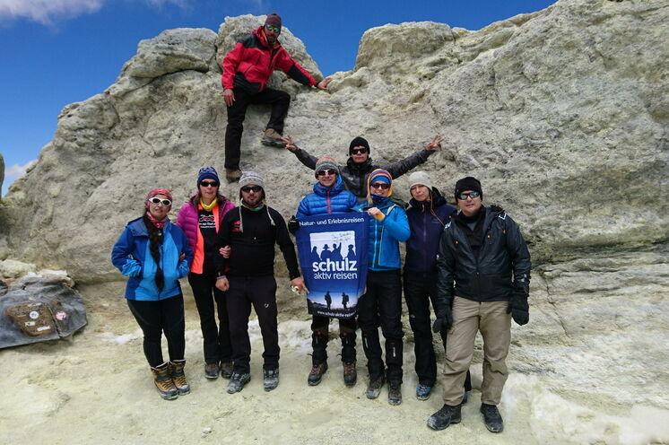Der Gipfel ist geschafft - Im Juli 2017 stehen wir auf dem höchsten Berg des nahen Ostens.
