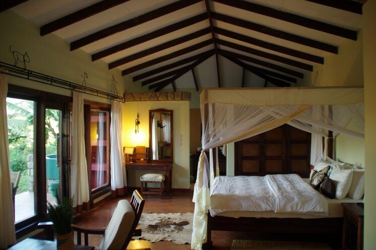 Nach den Safaris bleibt viel Zeit, sich zu erholen (im Bild die Endoro Lodge)