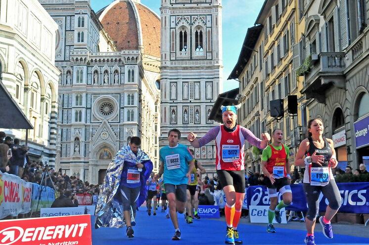 Die Laufstrecke durch das historische Florenz