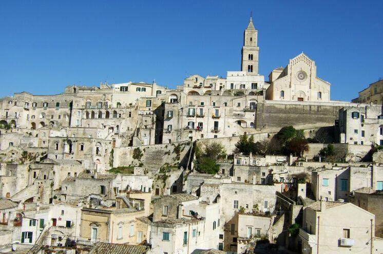 Ein Höhepunkt Ihrer Reise: Sie besuchen das athmospärische Matera (UNESCO-Weltkulturerbe)