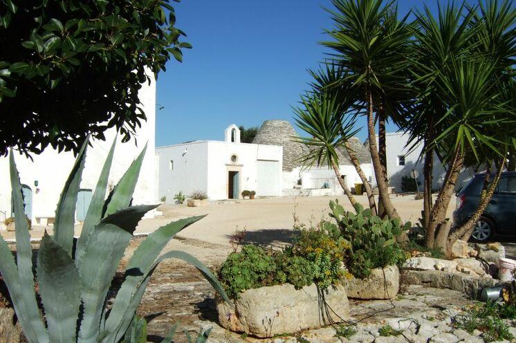 Blick in den Innenhof der Masseria