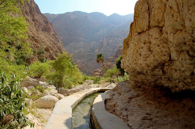 Immer wieder wird Ihnen das Falaj-System (traditionelle Bewässerung) begegnen, von der UNESCO ausgezeichnet und in alle Welt gebracht, z.B. Madeira