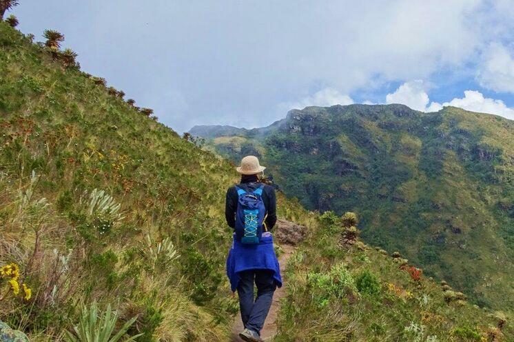 Wanderung am Guatavita-See