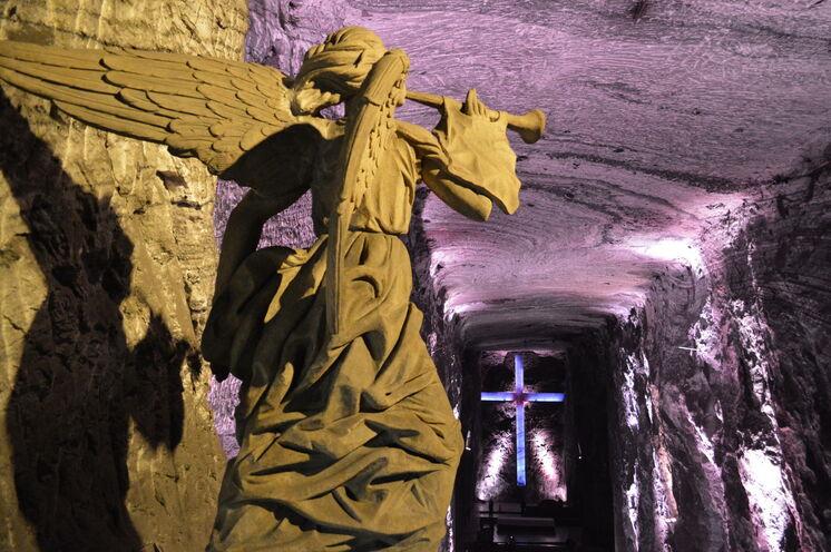 Salzkathedrale von Zipaquirá, eine unterirdische Kirche, die 180 m unter der Erde liegt