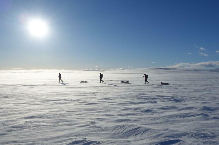 Für Ihre Tour durch die Hardangervidda mit Ski und Pulka...