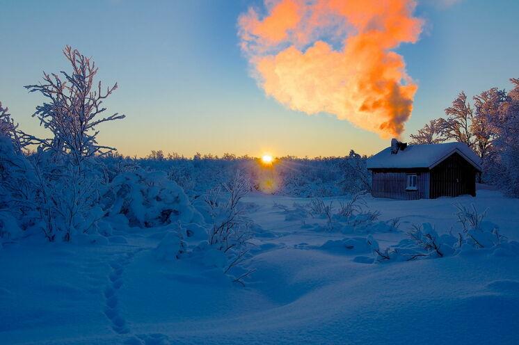 Die Ravnastua Hütte - die letzte Unterkunft während Ihrer Skitour