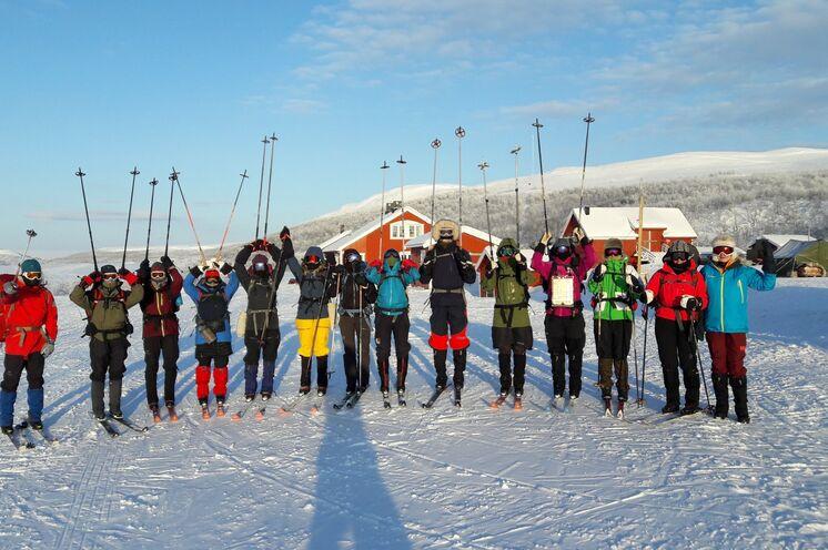 Auf zu einem weiteren sportlich-spannenden Fjellski-Tag