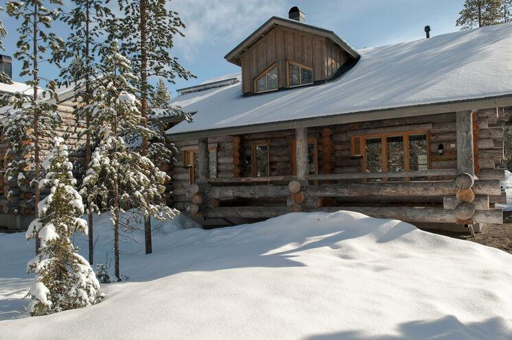 Finnische Gemütlichkeit – eine der Blockhütten in Äkäslompolo