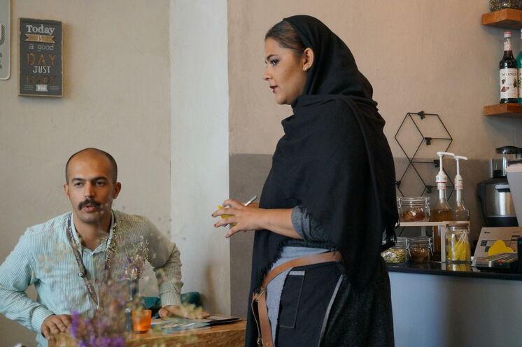 Auch das ist Iran: moderne und trendige Cafés in Teheran locken für einen kühlen Iced coffee :-)