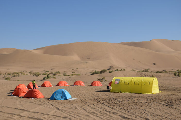 Ihr wunderschönes Wüstencamp am 6. Reisetag.