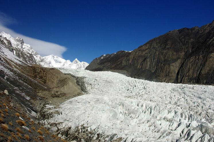 Der Passu-Gletscher ist Bestandteil unserer Wanderung zur Hochalm Patundas