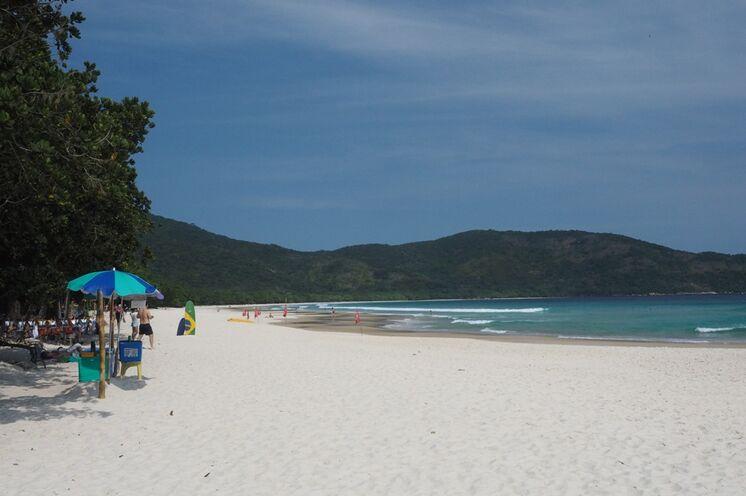 """""""Unser"""" Strand auf der autofreien (!) Insel Ilha Grande."""