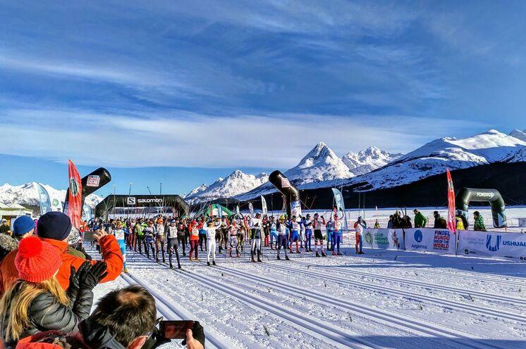 Trotz der sonst geforderten mind. 1000 Teilnehmer ist der Ushuaia ein Worldloppet