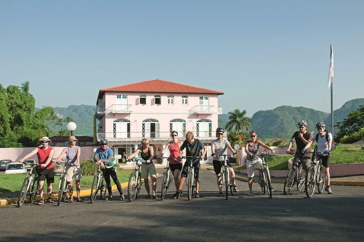 Auf 9 Tagesetappen, u.a. im Viñales-Tals, sind Sie per Fahrrad unterwegs