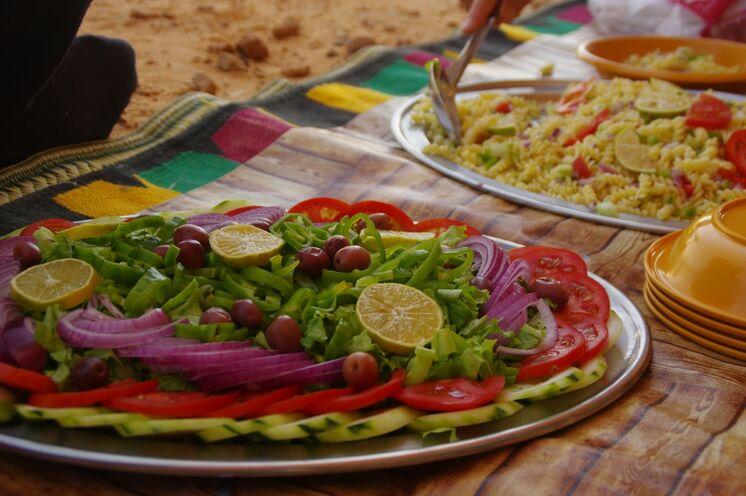 Das schmackhafte Essen während der Tour biete nicht nur Vitamine sondern auch bunte Farben