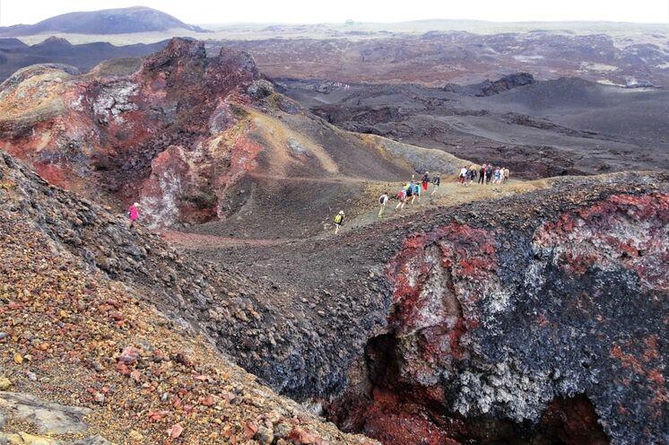 Vulkan Chico auf der Insel Isabela