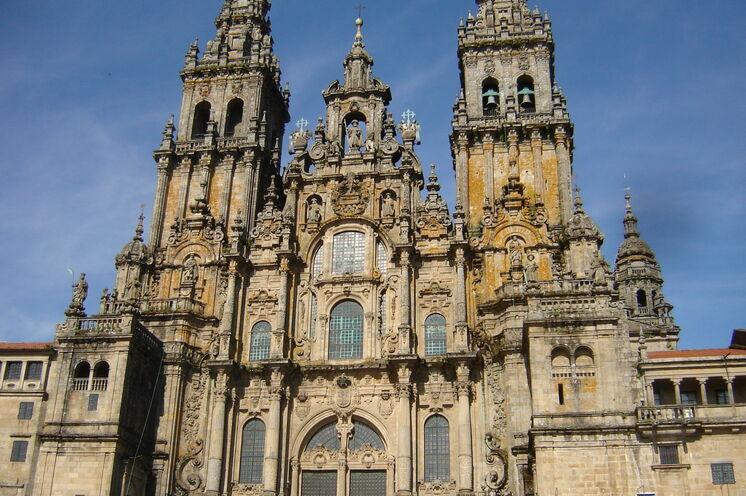 Endlich am Ziel - die Jakobuskathedrale von Santiago de Compostela.