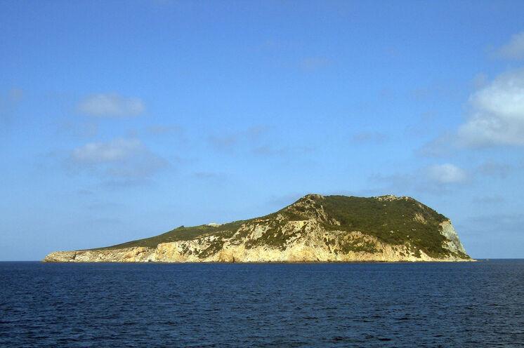 Die unbewohnte Insel Zannone.
