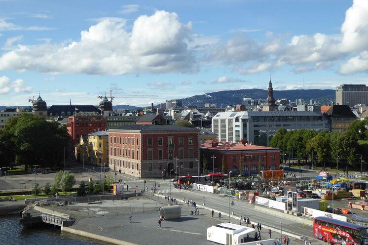 Oslo - Blick von der Oper zur Stadt