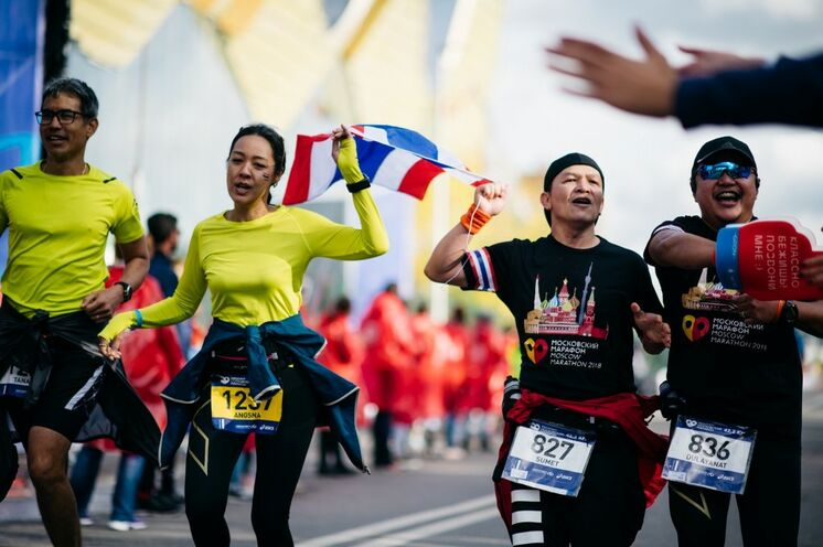 Der Moskauer Marathon wird auch bei internationalen Läufern immer beliebter