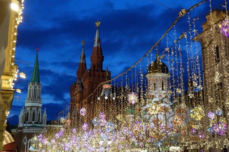 Moskau am Abend, tolle Stimmung!