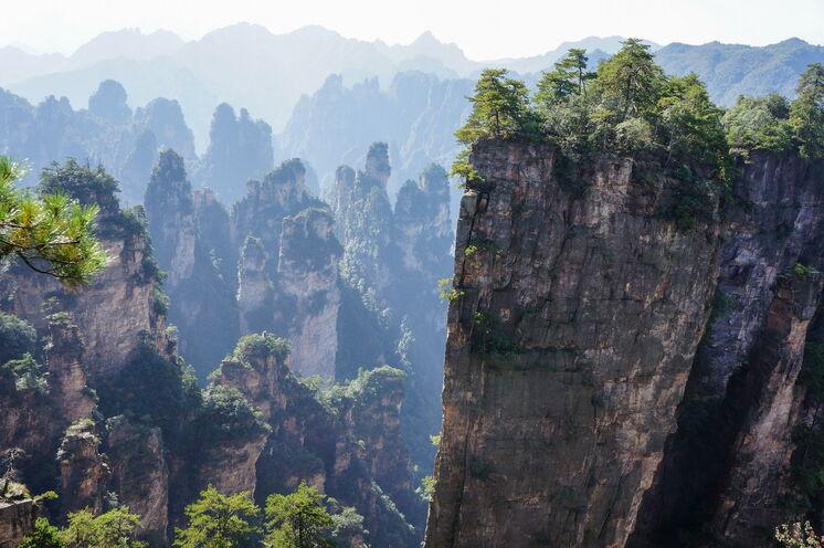 """Die märchenhaften Sandsteinformationen des Zhangjiajie NP inspirierten selbst die Macher des Hollywood-Blockbusters """"Avatar"""""""