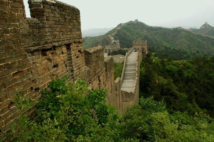 Welch ein Anblick - die Große Mauer in Jinshanling