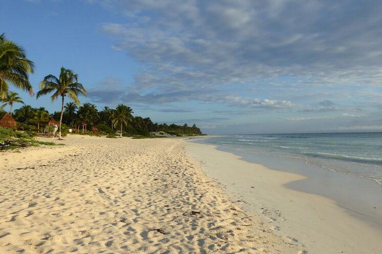 Am Strand der Südostküste Mexikos lässt sich herrlich entspannen...