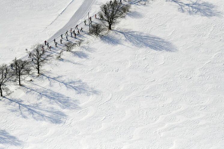 In der Olympiastadt Sapporo können Distanzen von 50km, 25km oder 11km in freier Technik gelaufen werden