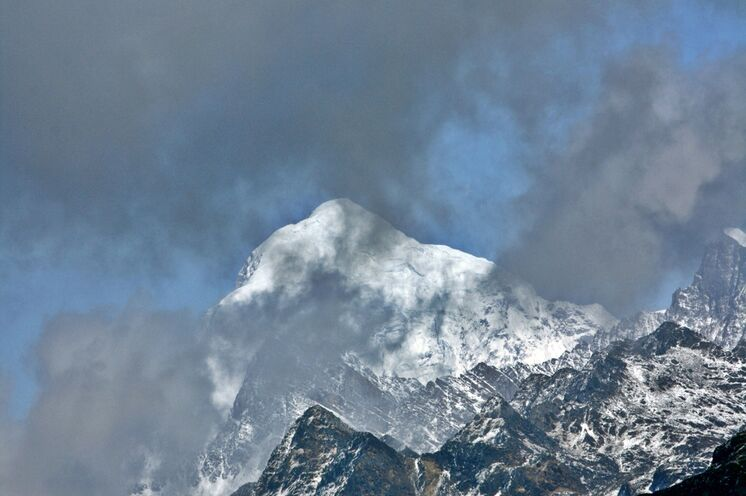 Der Gankhar Punsum (7514 m), höchster unbestiegener Berg der Erde - Bhutan