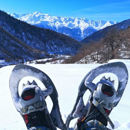 Schneeschuhwandern im Großen Kaukasus