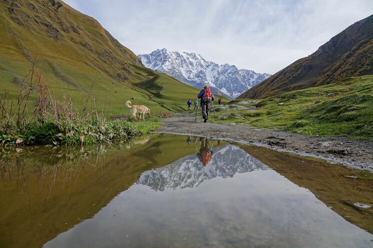 Wer Ruhe und Einsamkeit sucht, ist im großen Kaukasus genau richtig.