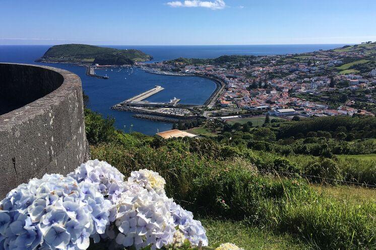 Mit der Fähre erreichen Sie von Pico aus bequem die Nachbarinel Faial und erkunden die geschichtsträchtige Inselhauptstadt Horta