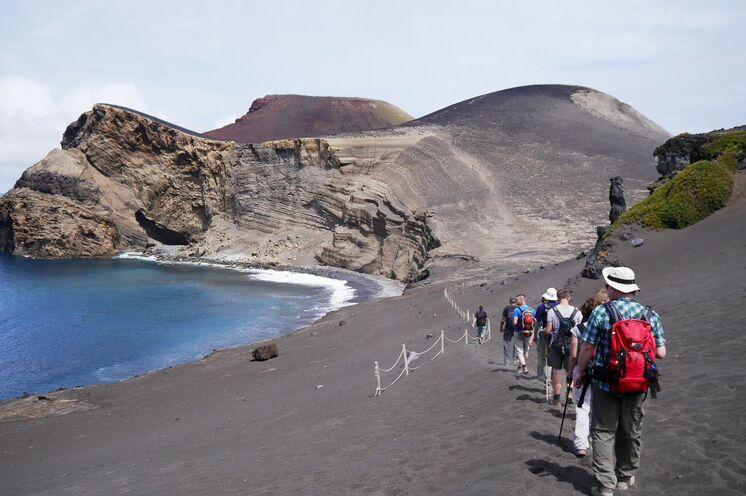 Wanderung zum Capelinhos auf Faial...
