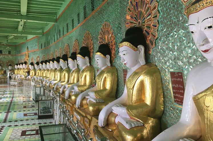 Überall in Myanmar werden Sie goldene Statuen und Bauwerke erkennen - von denen keins dem anderen gleicht.