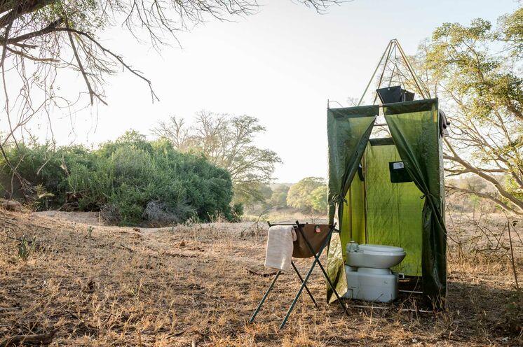 Und auch die Toilette wird in Ihrem Camp vorhanden sein (© Africa On Foot)
