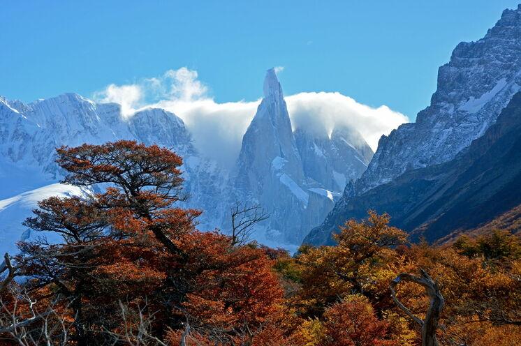 Bei zwei Tageswanderungen geht es entlang des Fitz Roy und Cerro Torre