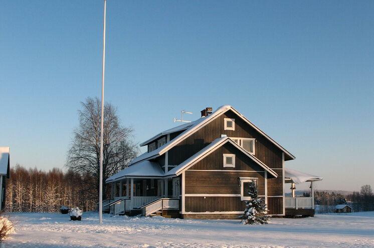 Ihre Skiwanderung führt Sie weiter zum Gasthaus Laitalan Lomat