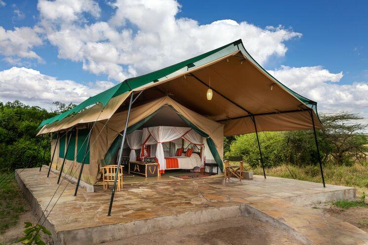 Stilechte Übernachtung in der Nähe der Masai Mara.