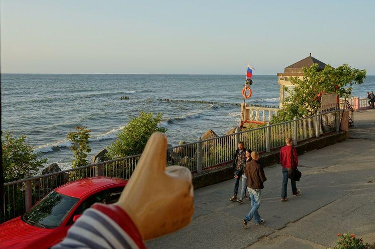 Strandpromenade in Rauschen, nur wenige Meter von Ihrer Unterkunft entfernt.